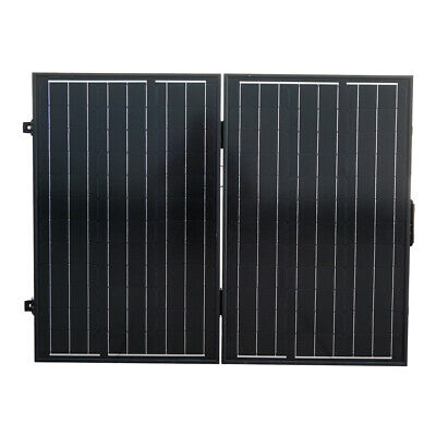 120W 12V Poly Portable Folding Solar Panel Complete Kit Camping Hiking Boat RV
