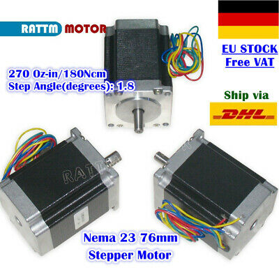 【UK】3Pcs Nema23 76mm CNC Stepper Motor 270Oz-in 3A Stepping Motor Milling Router