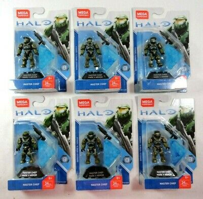 NEW MEGA CONSTRUX Halo Heroes Series 8 Master Chief Figure - $10 00