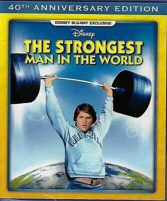 """Disney """"THE STRONGEST MAN IN THE WORLD (1975)"""" Family BLURAY (2016) Kurt Russell"""