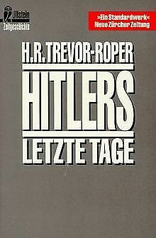Hitlers letzte Tage. by Trevor-Roper, Hugh R., ... | Book | condition acceptable