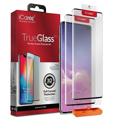 2x iCarez 3D Tempered Glass Screen Protector For Samsung Galaxy S10 e S10 Plus