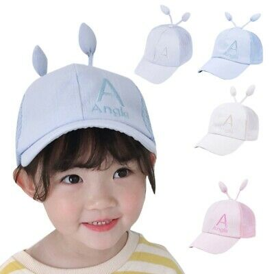 Kids Boy Girl Hip Hop Caps Adjustable Sun Protection Letter Casual Hats + Sprout