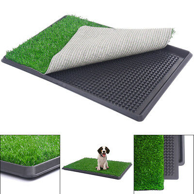 Large Turf Grass Mat Pet Dog Potty Toilet Trainer Pee Patch Pad Tray In&Outdoor