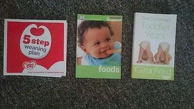 Baby toddler parenting books bundle Gina Ford Miriam Stoppard Weaning