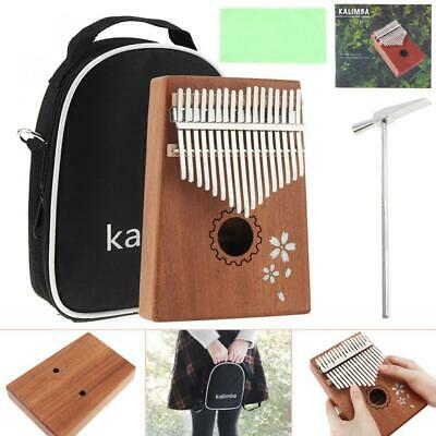 17 Key Kalimba Thumb Piano Mahogany Musical Instrument Learning Book Tune Hammer