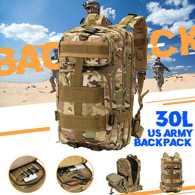 30L Military Tactical Army Backpack Rucksack Camping Hiking Trekking Bag Outdoor