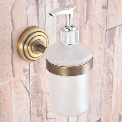 Antique Brass Soap Dispenser Bathroom Kitchen Sink Liquid Pump Bottle fba743