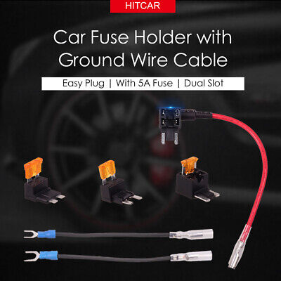 Car Vehicle Circuit Blade ATM APS ATT Low Profit Fuse Holder Power Cable Adapter