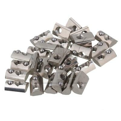 30x T Nuts & Accessories For 20 Series Aluminium Extrusion Profile 13mm Length