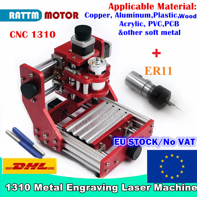 【EU】1310 GRBL Benbox DIY ER11 All Metal Mini Desktop CNC Engraving Laser Machine