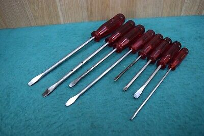 Vintage Sidchrome 45 Series  Red Handle  Screwdrivers Old Tool