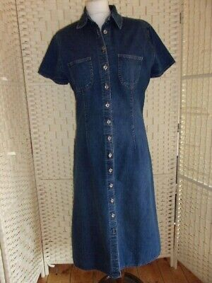 5d14add93c MARKS AND SPENCER Denim Blue Chambray Midi Shirt Dress Size 18 ...