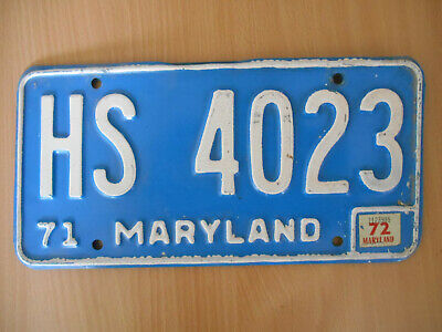 plaque immatriculation usa maryland 1971 license plate old americaine .