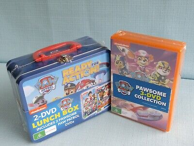 5 x PAW PATROL DVDS INC LUNCH BOX NEW SEALED GAME ON AIR PUPS SPRING CHASE CASE