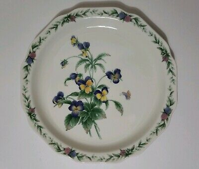 Noritake China Gala Cuisine Plates Conservatory 7915 Flowers Butterfly Lot of 4