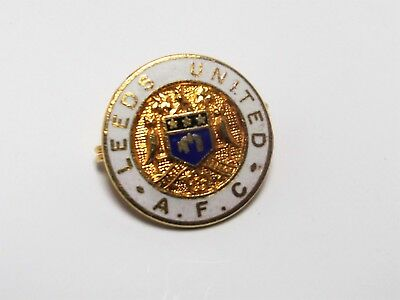 Leeds United Fc - Vintage Enamel Coffer Crest Badge
