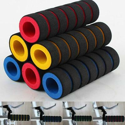 2pcs Set Universal Bicycle Bike Handle Bar Grips Sponge Nonslip Foam Rubber MN