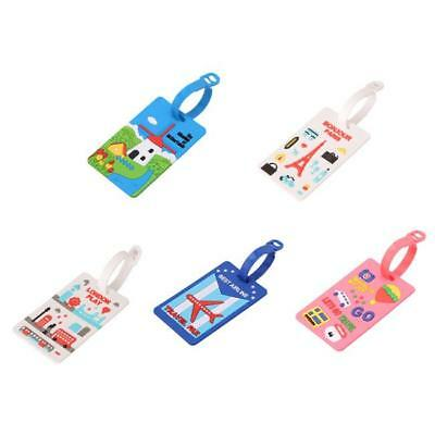 Creative Travel Suitcase Luggage Tags Labels Baggage Address Card Case MN