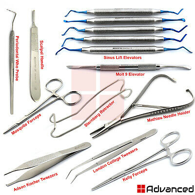 Dental Sinus Lift Surgery Instruments Posterior Maxillary Implant Graft Elevator