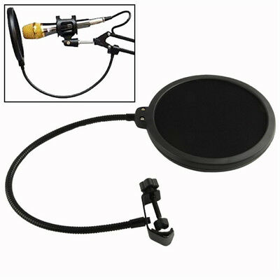 Durable Double Layer Recording Studio Microphone Mic Wind Screen Mask Shield