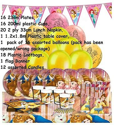 Disney Beauty and the Beast Party Pack 16 Guests girl birthday princess table