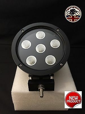 "LED CREE 60W 7"" x 1 Roof Spot Light Black Land Rover 4x4 SUV UK Supplier 7602B"