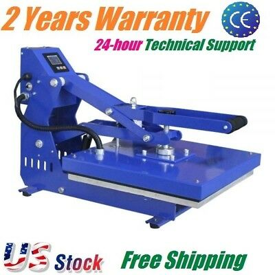 "16"" x 20"" T-shirt Heat Press Machine Horizontal Clamshell Sublimation Printing"