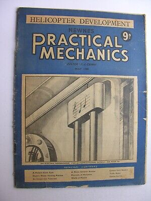 HELICOPTER DEVELOPMENT May 1948 NEWNES PRACTICAL MECHANICS Electric Door Chimes
