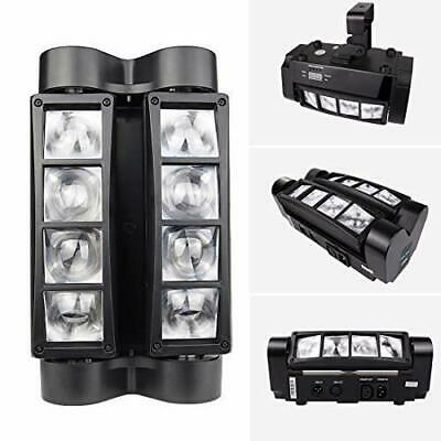 120W 8LED Moving Head Light DMX-512 RGBW Stage DJ Beam Spider Lighting Party TN