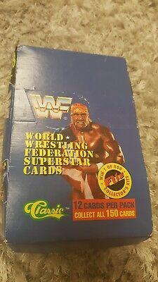 WWF / WWE Classic trading cards 1991 unopened sealed full pack - Rare