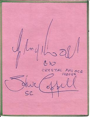 Football Autographs Including Steve Coppell & George Woods Crystal Palace F880