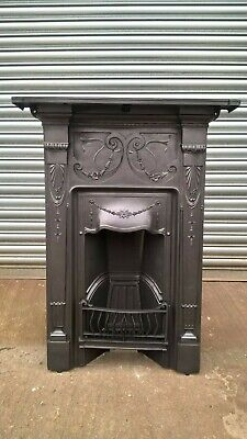 Victorian Edwardian Cast Iron Combination Fireplace all in one fireplace