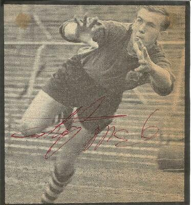 Football Autograph Bill Glazier Crystal Palace Signed Newspaper Photograph F882