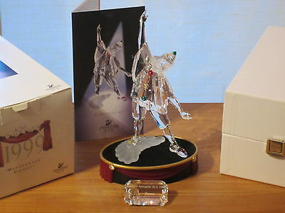SWAROVSKI *NEW* SCS Pierrot de Adi Stocker 1999 + Socle + Plaque 230586 H.20cm