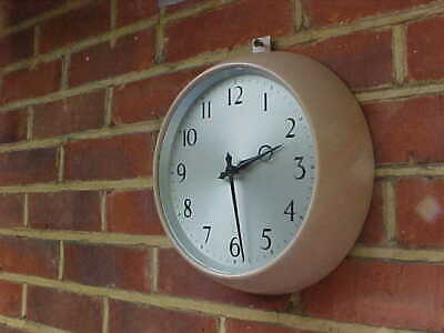VINTAGE RETRO 1960's STEEL CASED SMITH ENFIELD MECHANICAL WALL CLOCK