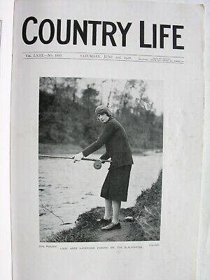 COUNTRY LIFE MAGAZINE 1928 June 2 Derby Day Chelsea Flower Show Clarendon Oxford
