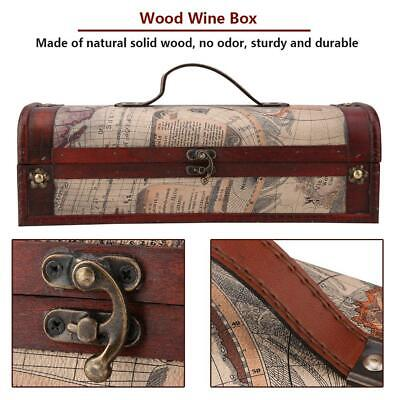 Vintage Wooden Red Wine Champagne Single Bottle Packing Storage Box Decor Gifts