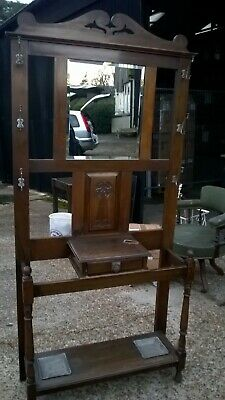 Vintage wooden hall stand.