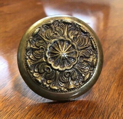 Large Vintage Solid Brass ORNATE Door Pull Knob Handle SPAIN Antique Reclaimed