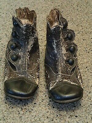 Vintage 1900's Victorian Leather Button Up Baby/Toddler shoes