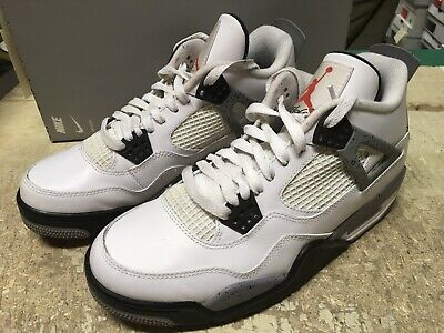 best loved 614a0 5ff06 Used Mens Nike Air Jordan Iv 4 Retro White Cement 308497 103 Sz 7.5 Noboxlid