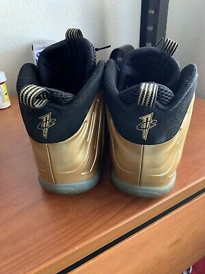 1e88b85cb6a NIKE AIR FOAMPOSITE METALLIC GOLD BLACK FOAMS SZ 7 One Scuff But Great Shoe