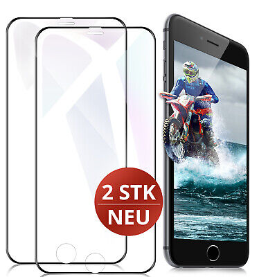 2x 6D Panzerglas iPhone 7 PLUS iPhone 8 PLUS Display Schutz Panzer Folie 9H Glas
