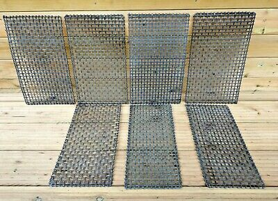 7 Antique Brass Lattice Radiator Grille's Panels Vintage Victorian Architectural