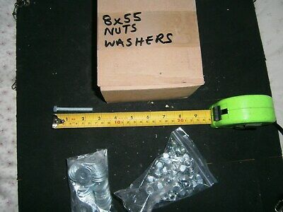 M8  55  Nuts and bolts and washers
