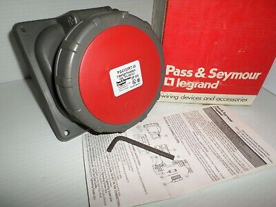 **NEW IN BOX** PASS&SEYMOUR PS 4100R7W 100-Amp RECEPTACLE HBL4100R7W 480V 100A