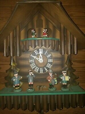 Antique Black Forest German Cuckoo Clock Oompah Band