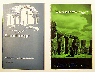 STONEHENGE two HMSO booklets What is - A Junior Guide 1962 fold-out map VGC