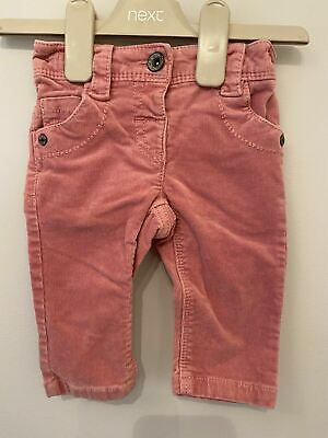 Girls 3-6 Months Next Pink Corduroy Trousers S/N310